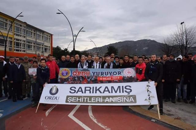 ORDU SARIKAMIŞ ŞEHİTLERİ 104. YILDÖNÜMÜNDE'DE ANDI
