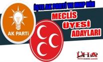 İŞTE AK PARTİ VE MHP'NİN ÜNYE BELEDİYE MECLİS ÜYESİ ADAYLARI
