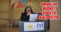 BAŞKAN ÇUHACI'' ORDU 'YA HİZMET SINIFTA KALMIŞTIR.''