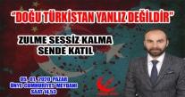 Başkan Ocak'dan Doğu Türkistana Destek Çağrısı