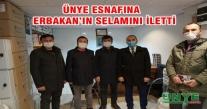 BAŞKAN OCAK ÜNYE ESNAFINA  ERBAKAN'IN SELAMINI İLETTİ