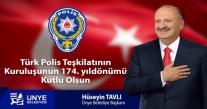"""BAŞKAN TAVLI, """"POLİSİMİZ KAMU HUZURUNUN TESİSİNDE TOPLUMUN KİLİT TAŞIDIR"""""""