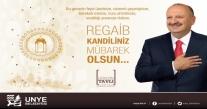 """Başkan Tavlı, """"Regaib Kandili, rahmet gecesidir"""""""