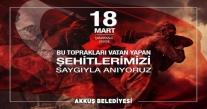 BAŞKAN DEMİRCİ'NİN 18 MART MESAJI
