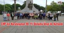 CHP'NİN KURULUŞUNUN 98. YIL DÖNÜMÜ ÜNYE'DE KUTLANDI