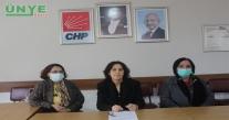 CHP ÜNYE KADIN KOLLARI ''KADINA ŞİDDET POLİTİKTİR''