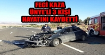 FECİ KAZA ÜNYE'Lİ 3 KİŞİ HAYATINI KAYBETTİ