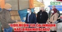 HACIİMAMOĞLU; ''GİDİLMEDİK YER ÇALINMADIK KAPI BIRAKMAYACAĞIZ''