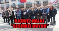 İİlküvez Halkı Orçev İle Birlikte Büyükşehir Önünde.