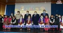 İLKÖĞRETİM HAFTASI ÜNYE'DE KUTLANDI