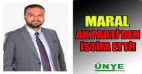 MARAL AK PARTİ'DEN İSTİFA ETTİ!