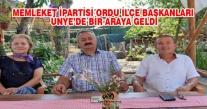 MEMLEKET PARTİSİ ORDU İLÇE BAŞKANLARI ÜNYE'DE BİR ARAYA GELDİ