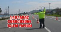 ORDU'DA BİR HAFTALIK TRAFİK RAPORU