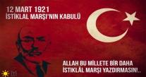 TORUNOĞLU  İSTİKLAL MARŞI'NIN KABULÜNÜN 98. YILDÖNÜMÜNÜ KUTLADI