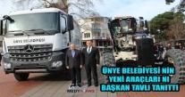 Ünye Belediyesinin Yeni Araçlarını Başkan Tavlı Tanıttı