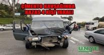 ÜNYE ÇİMENTO KAVŞAĞINDA TRAFİK KAZASI 4 KİŞİ YARALI