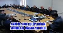 Ünye'de Amatör Spor Kulüpleri'nin Sıkıntıları Masaya Yatırıldı