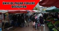 ÜNYE'DE PAZAR YERLERİ TAŞINIYOR.