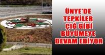 ÜNYE'DE PKK NIN KULLANDIĞI  RENKLERİN KULLANILMASINA BÜYÜK TEPKİ