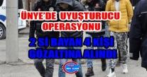 Ünye'de Uyuşturucu Operasyonu 2 Bayan 2 Erkek Gözaltına Alındı