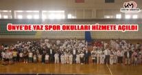 ÜNYE'DE YAZ SPOR OKULLARI HİZMETE AÇILDI