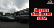 ÜNYE'DE ZİNCİRLEME KAZA
