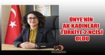 ÜNYE'NİN AK KADINLARI TÜRKİYE 2'NCİSİ  OLDU