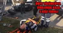 Ünye Yüzüncü Yıl Mevkiinde Kaza 5 Kişi Yaralı