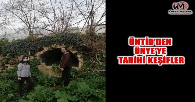 ÜNTİD'DEN ÜNYE'YE TARİHİ KEŞİFLER
