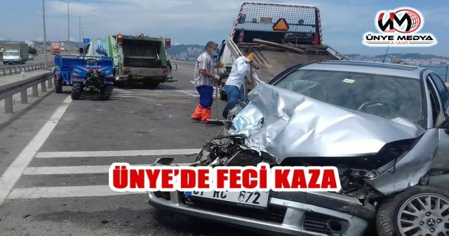 ÜNYE'DE FECİ KAZA