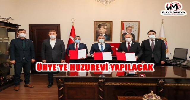 ÜNYE'YE HUZUREVİ YAPILACAK